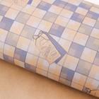 Бумага упаковочная крафтовая «Клетка», 50 × 70 см