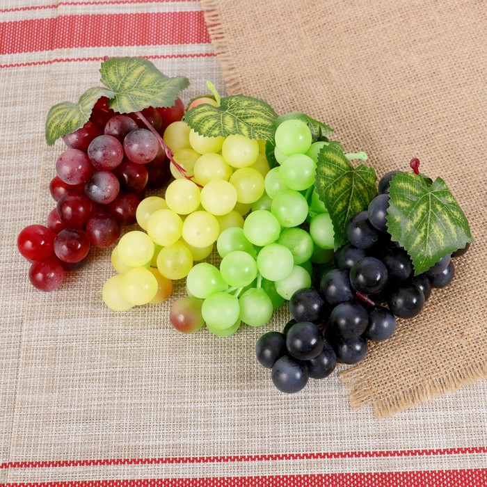 Муляж виноград 17 см, микс - фото 699420