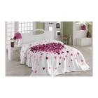 Покрывало Juana, размер 220х240 см, цвет лиловый, велсофт