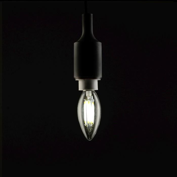 Лампа светодиодная, C37, 6 Вт, E14, 630 Лм, 4200 К, 220-240 В, холодный, прозрачная