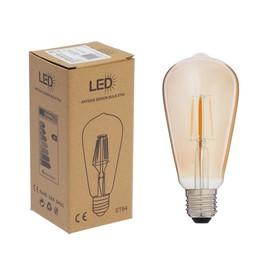 """Лампа светодиодная """"Ретро"""", ST64, 4 Вт, E27, 420 Лм, 2700 К, золотистая, теплый белый"""