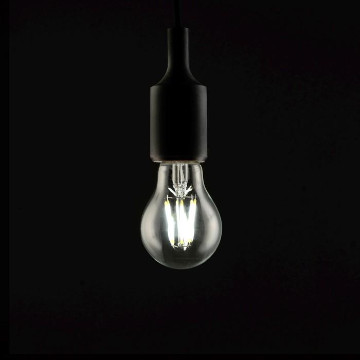 Лампа светодиодная, A60, 4 Вт, E27, 420 Лм, 4200 К, дневной белый, прозрачная