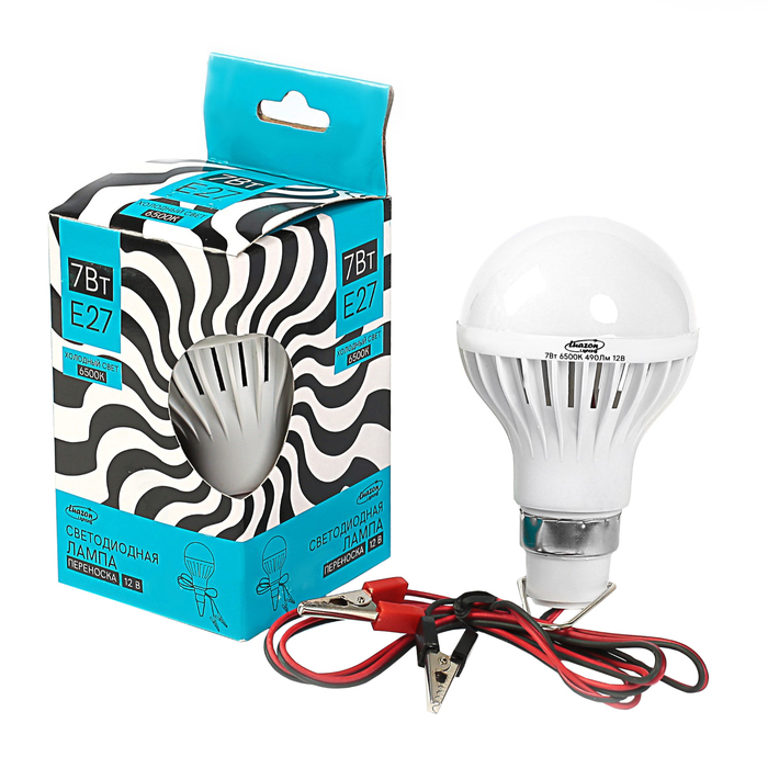 Лампа светодиодная низковольтная Luazon, 7 Вт, 6500 K, 12 В, холодный белый