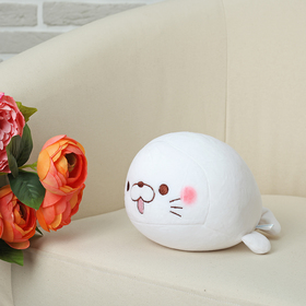 Soft toy anti-stress Seal, color white