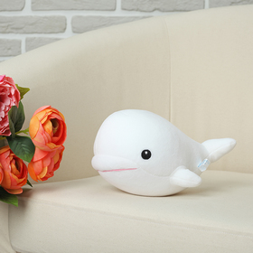 "Soft toy anti-stress ""the Whale"", white"