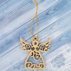 Подвеска на ёлку «Ангелочек», золото, 7,7×8,1 см