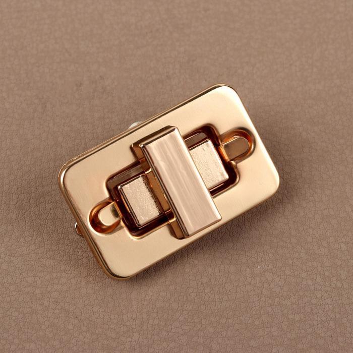 Застёжка для сумки, 4*2,5см, цвет золотой