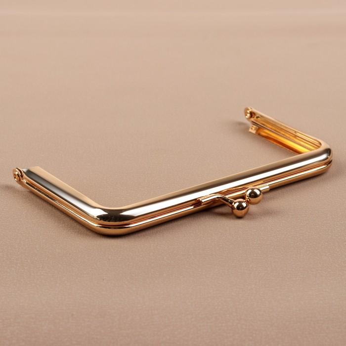 Фермуар «Прямоугольник», 12,5 см, цвет золотой - фото 688876