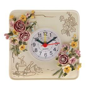 "Table clock ""Roses"", 12x12 cm"