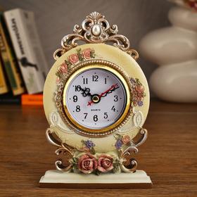 """Часы настольные """"Ажурные розы"""", 16.5х11.5 см"""