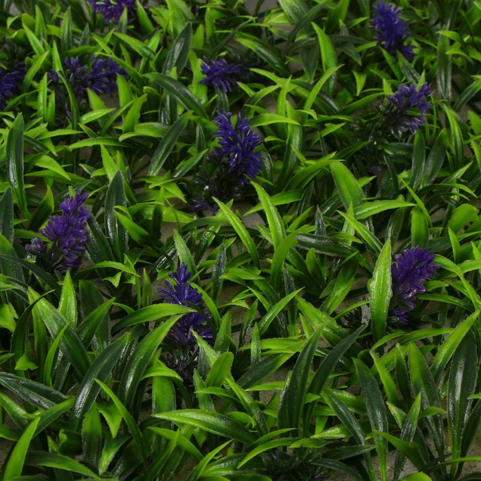 Газон-коврик искусственный, 40 х 60 см, «Полевые цветы»