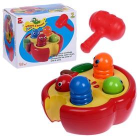 Развивающая игрушка «Стучалка Червячки» с молотком
