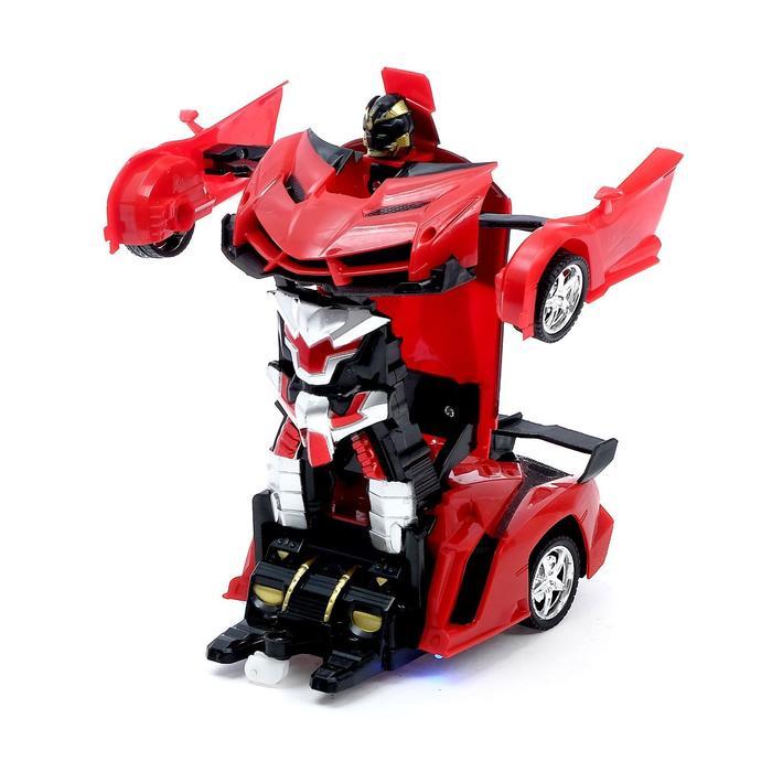 Робот-трансформер радиоуправляемый «Ламба», ездит, трансформируется с пульта, масштаб 1:18, цвета МИКС - фото 8374615