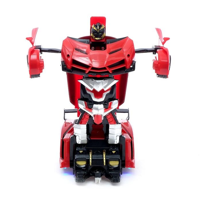 Робот-трансформер радиоуправляемый «Ламба», ездит, трансформируется с пульта, масштаб 1:18, цвета МИКС - фото 8374623