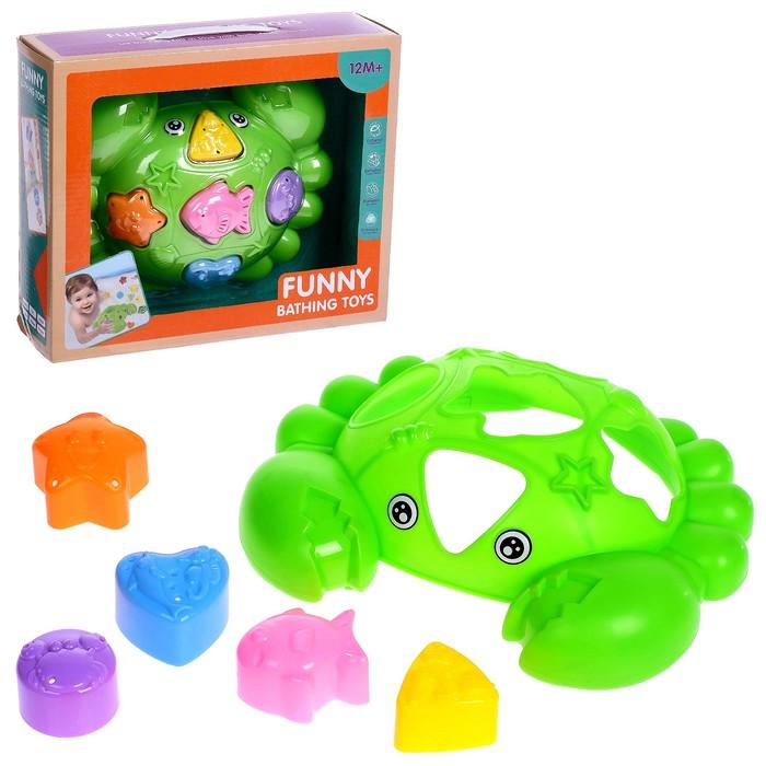 Развивающая игрушка-сортер «Крабик»