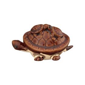 Фигурка декоративная «3 черепашки», цвет коричневый