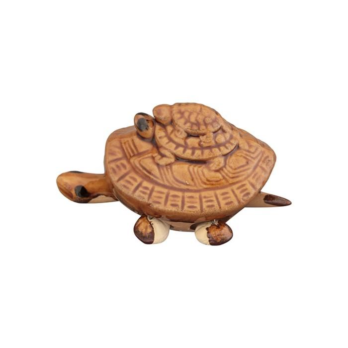 Фигурка декоративная «Черепашья семейка», цвет коричневый