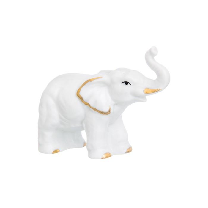 Фигурка декоративная «Слон», цвет бело-золотистый