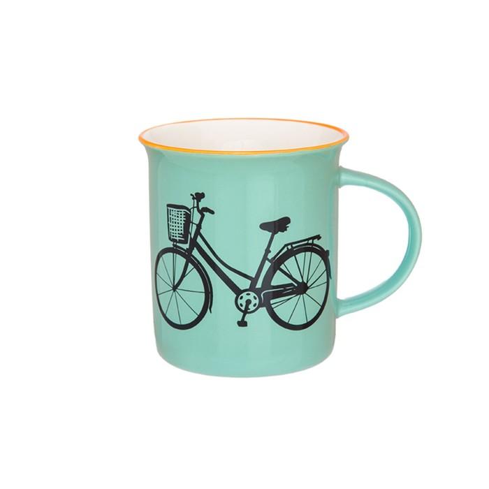 Кружка «Велосипед», объём 320 мл, цвет бирюзовый