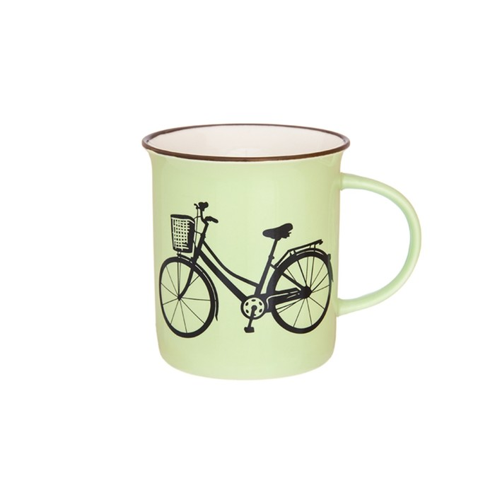 Кружка «Велосипед», объём 320 мл, цвет фисташковый