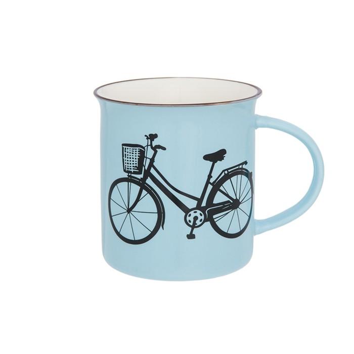 Кружка «Велосипед», объём 320 мл, цвет голубой