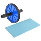 Упор для пресса, колесо одиночное, с ковриком, микс