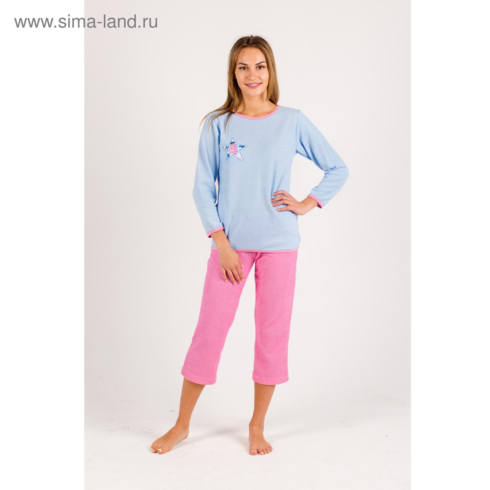 fbf2b22c8371ffb Пижама женская (джемпер, бриджи) Анаис цвет розовый/голубой, р-р 52 ...