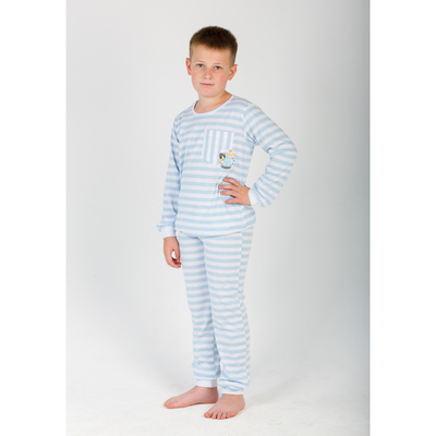 Комплект для мальчика (джемпер, брюки) Полоса цвет голубой, р-р 36