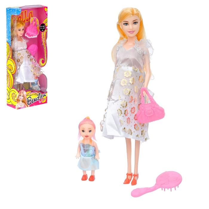 """Кукла модель """"Анфиса"""" беременная с малышкой, с аксессуарами, МИКС"""