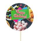 "Topper - birthday card ""Happy Birthday!"" sweets"
