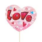 "Топпер - открытка ""LOVE"" сердечки"