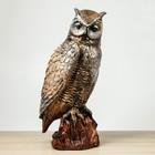 "Сувенир ""Сова на пне"", 48 см, цвет бронзовый"