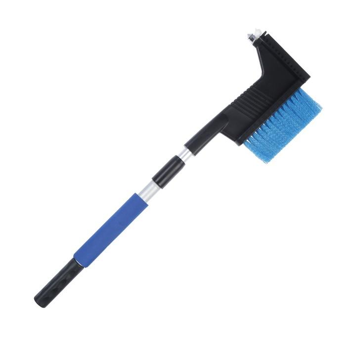 Щётка-сметка со скребком и мягкой ручкой са-85, телескопическая 58-80 см, микс