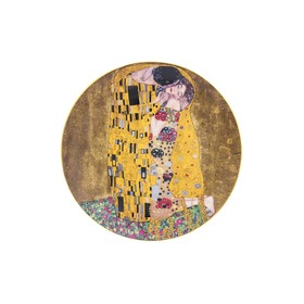 Тарелка декоративная «Поцелуй», круг на подставке