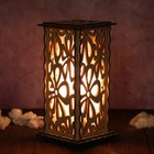 """Соляной светильник из дерева """"Ромашки"""", 20 х 12 см, деревянный декор"""