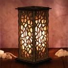 """Соляной светильник из дерева """"Льдинки"""", 20 х 12 см, деревянный декор"""