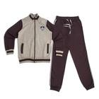 Костюм спортивный для мальчика, рост 140 см, цвет серый меланж 1126