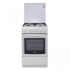 Плита газовая De Luxe 5040.41Г(КР)ЧР, 4 конфорки, 43 л, газовая духовка, белый