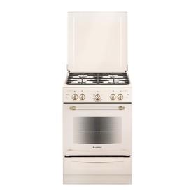 Плита газовая Gefest 6100-02 0186, 4 конфорки, 52 л, газовая духовка, бежевая