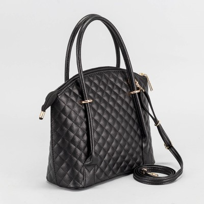 Сумка женская, отдел на молнии, наружный карман, стёжка, цвет чёрный