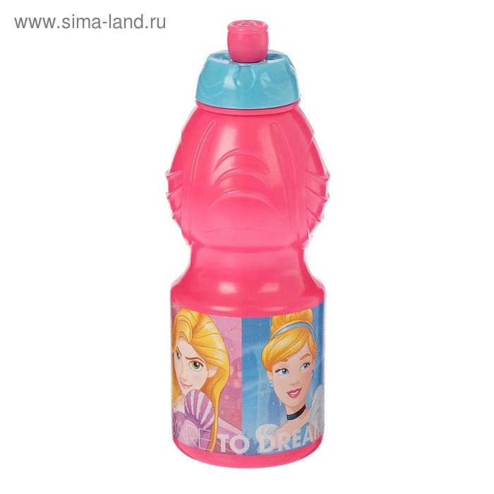 """Бутылка 400 мл """"Принцессы. Дружные приключения"""" фигурная"""