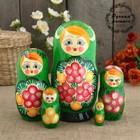Матрёшка «Рита», зеленый платок, 5 кукольная, 17,5 см