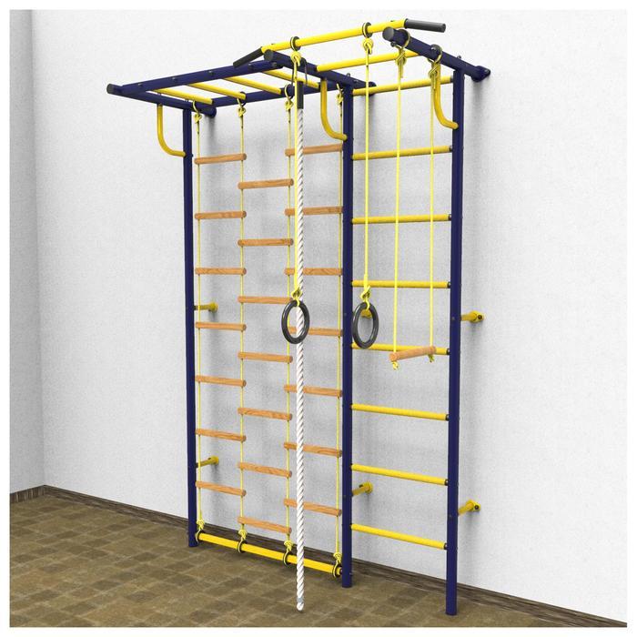 Детский спортивный комплекс «Роки с рукоходом», ПВХ, 700 × 1630 × 2300 мм, цвет ультрамарин - фото 908077