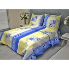 Постельное бельё 2 сп. La Marka Home рис.Ладога синий 175х210, 180х210, 70х70 2шт бязь 100г/м, хл100%