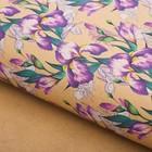 Бумага упаковочная крафт «Розовые ирисы», 50 х 70 см