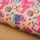 Бумага упаковочная крафтовая «Женские мёлочи», 50 × 70 см