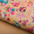 Бумага упаковочная крафтовая «Сладкой жизни», 50 × 70 см
