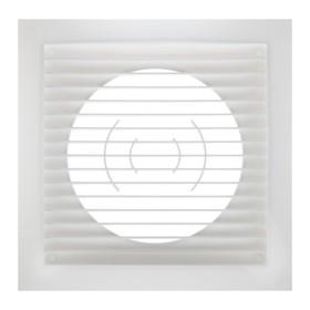 Решетка вентиляционная ERA 1515РС10Ф, прямоточная, 150х150 мм, d=100