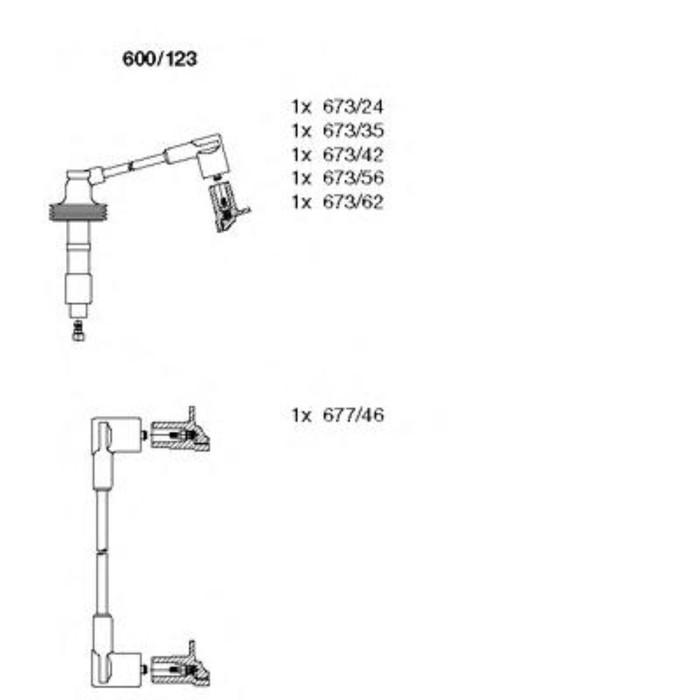 Комплект проводов BREMI 600123