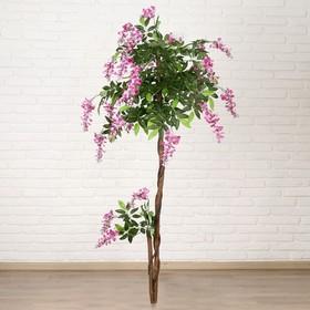дерево искусственное глициния витая 160 см d цветка=3,5 см